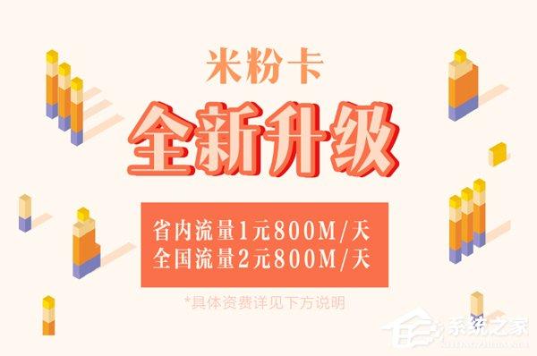 省内1元800MB/天!小米开通米粉卡升级入口
