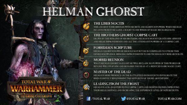 """《战锤全面战争》阴冷墓穴DLC吸血鬼传奇领主Helman Ghorst技能介绍 游戏攻略"""""""